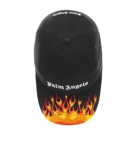 Palm Angels Black Flames Cap - Фото №2