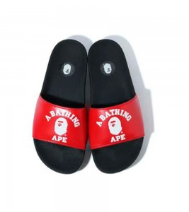 Кроссовки A Bathing Ape College Slide Sandals Red