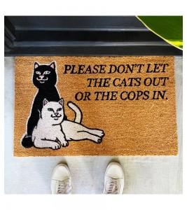 Коврик RIPNDIP Don't Let The Cops In Door Mat - Фото №2