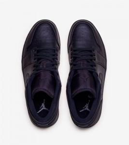 Кроссовки Jordan Air Jordan 1 Low Triple Black - Фото №2
