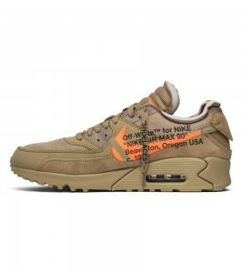 Кроссовки Off-White x Nike Air Max 90 Desert Ore - Фото №2