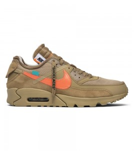 Кроссовки Off-White x Nike Air Max 90 Desert Ore