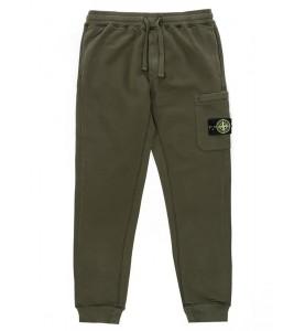 Штаны Stone Island Fleece Cotton Pants Olive