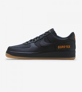 Кроссовки Nike Air Force One Low Gore-Tex Black Light Carbon