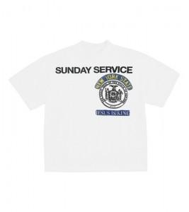 Футболка Kanye West Sunday Service New York III White