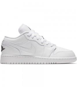 Кроссовки Air Jordan 1 Low Triple White GS