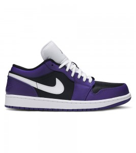 Кроссовки Air Jordan 1 Low Court Purple Black