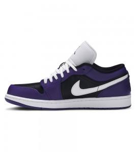 Кроссовки Air Jordan 1 Low Court Purple Black - Фото №2