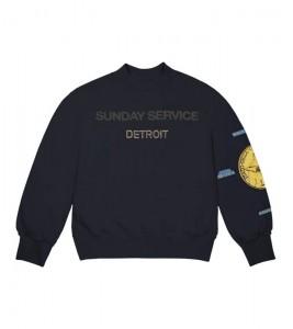 Свитшот Kanye West Sunday Service Gold Detroit II Crewneck Navy
