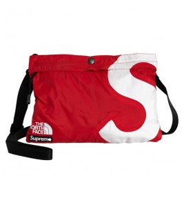 Сумка Supreme х The North Face S Logo Shoulder Bag Red