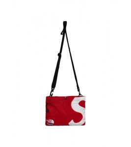 Сумка Supreme х The North Face S Logo Shoulder Bag Red - Фото №2