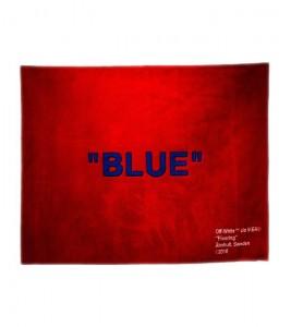 """Ковер Virgil Abloh x IKEA """"BLUE"""" Rug 250x200 CM Red/Blue"""