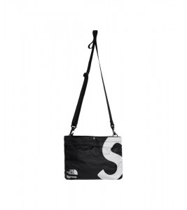 Сумка Supreme х The North Face S Logo Shoulder Bag Black - Фото №2
