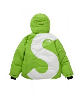 Куртка Supreme х The North Face S Logo Summit Series Himalayan Parka Lime - Фото №2