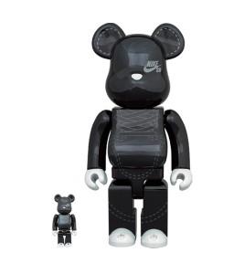 Bearbrick NIKE SB 2020 100% & 400% Set Black