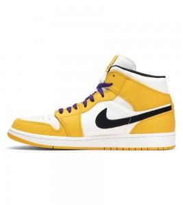 Кроссовки Air Jordan 1 Mid SE Lakers - Фото №2