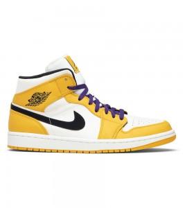 Кроссовки Air Jordan 1 Mid SE Lakers