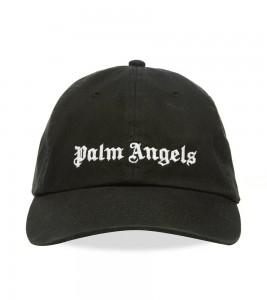 Palm Angels Black Classic Logo Cap