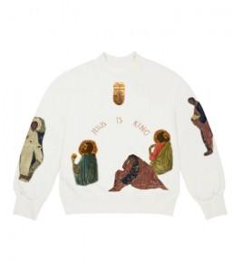 Свитшот Kanye West Jesus Is King Cross I Crewneck White