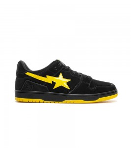 Кроссовки A Bathing Ape Sk8 Sta Black Electric Yellow