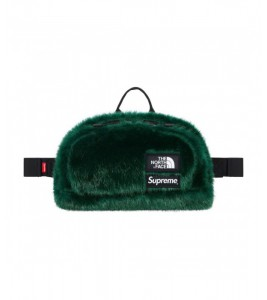 Сумка Supreme х The North Face Faux Fur Waist Bag Green