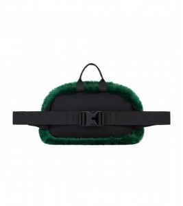 Сумка Supreme х The North Face Faux Fur Waist Bag Green - Фото №2