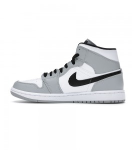Кроссовки Air Jordan 1 Mid Light Smoke Grey - Фото №2