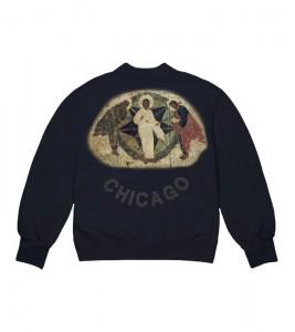 Свитшот Kanye West Jesus Is King Chicago Painting Crewneck Navy - Фото №2