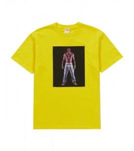 Футболка Supreme Tupac Hologram Yellow