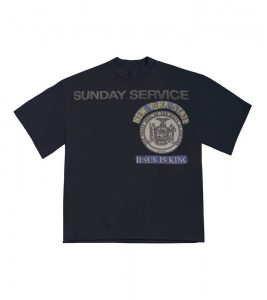 Футболка Kanye West Sunday Service New York I Navy