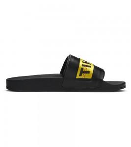Кроссовки Off-White Sliders 'Black Yellow' - Фото №2