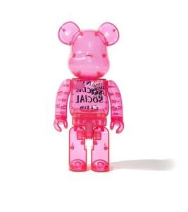 Bearbrick x Antisocial Social Club 400% Pink