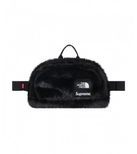 Сумка Supreme х The North Face Faux Fur Waist Bag Black