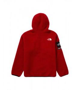 Куртка Supreme х The North Face S Logo Fleece Jacket Red - Фото №2