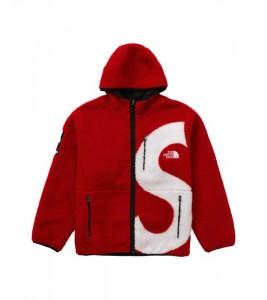 Куртка Supreme х The North Face S Logo Fleece Jacket Red