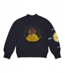 Свитшот Kanye West Jesus Is King Detroit Crewneck Navy