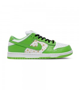 Кроссовки Nike Supreme x Dunk Low OG SB QS 'Mean Green'