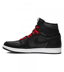 Кроссовки Air Jordan 1 Retro High Black Gym Red - Фото №2
