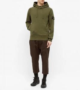 Худи Stone Island Garment Dyed Hoodie Green - Фото №2
