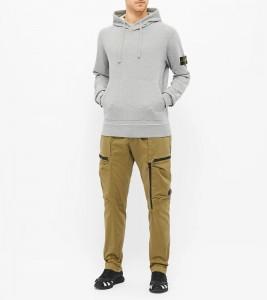 Худи Stone Island Garment-Dyed Hoodie Grey - Фото №2
