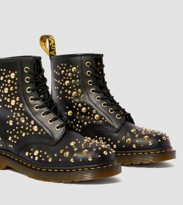 Ботинки Dr. Martens 1460 MIDAS SMOOTH LEATHER GOLD STUDDED BOOTS - Фото №2