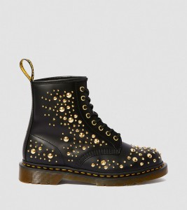 Ботинки Dr. Martens 1460 MIDAS SMOOTH LEATHER GOLD STUDDED BOOTS