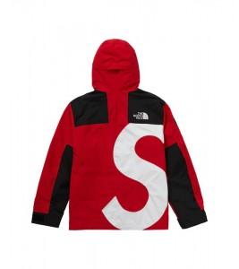 Куртка Supreme х The North Face S Logo Mountain Jacket Red - Фото №2