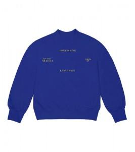 Свитшот Kanye West Jesus Is King Vinyl I Crewneck Blue