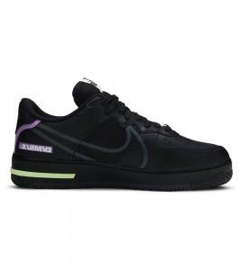 Кроссовки Nike Air Force 1 React Black - Фото №2