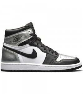 Кроссовки Air Jordan 1 Retro High Silver Toe WMNS