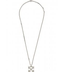 Цепочка OFF-WHITE Silver Arrows Necklace 73 см