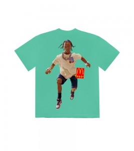 Футболка Travis Scott x McDonald's Action Figure Series IV Teal