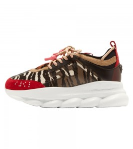 Кроссовки Versace Chain Reaction 'Red Animalier Pattern'