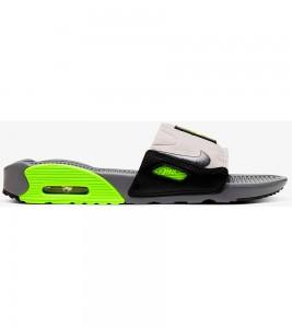 Кроссовки Nike Air Max 90 Slide Smoke Grey Volt Black (W)